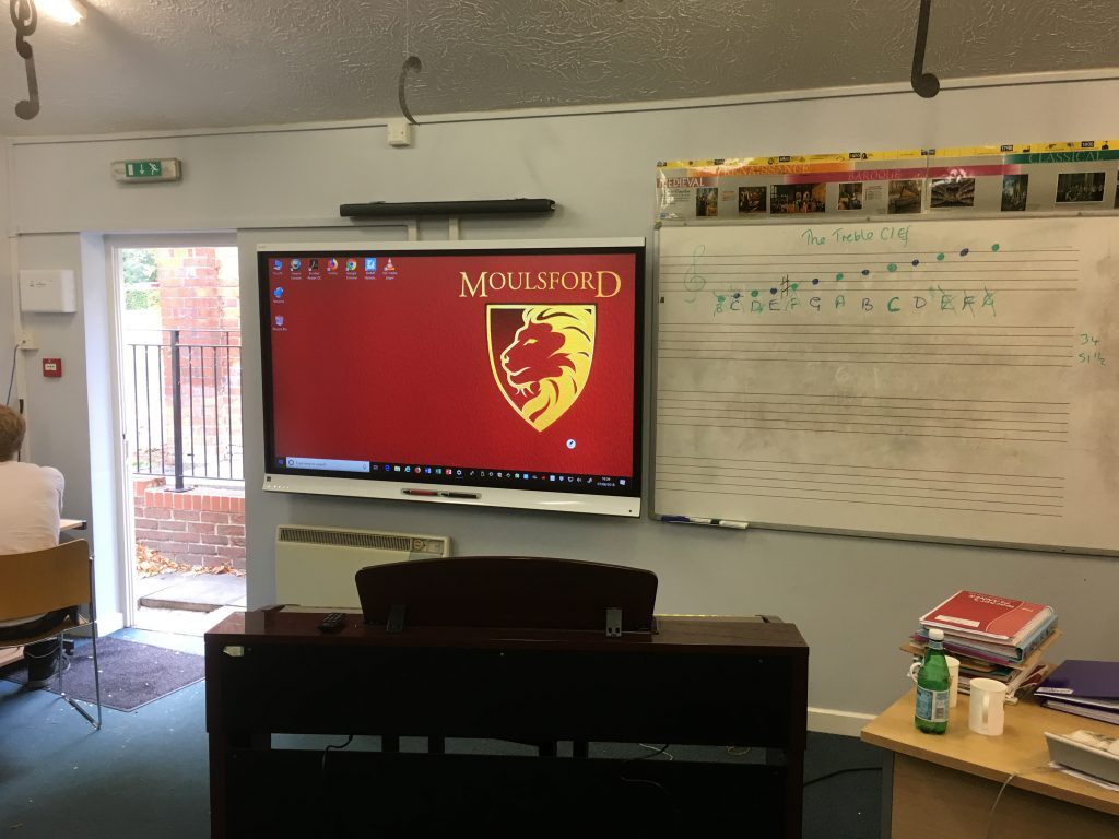 Interactive touch display at Moulsford School