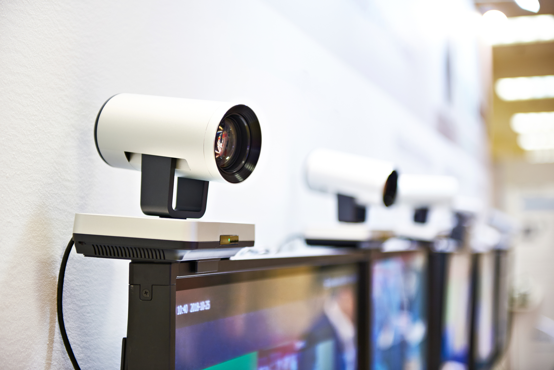 External video camera for video conferencing
